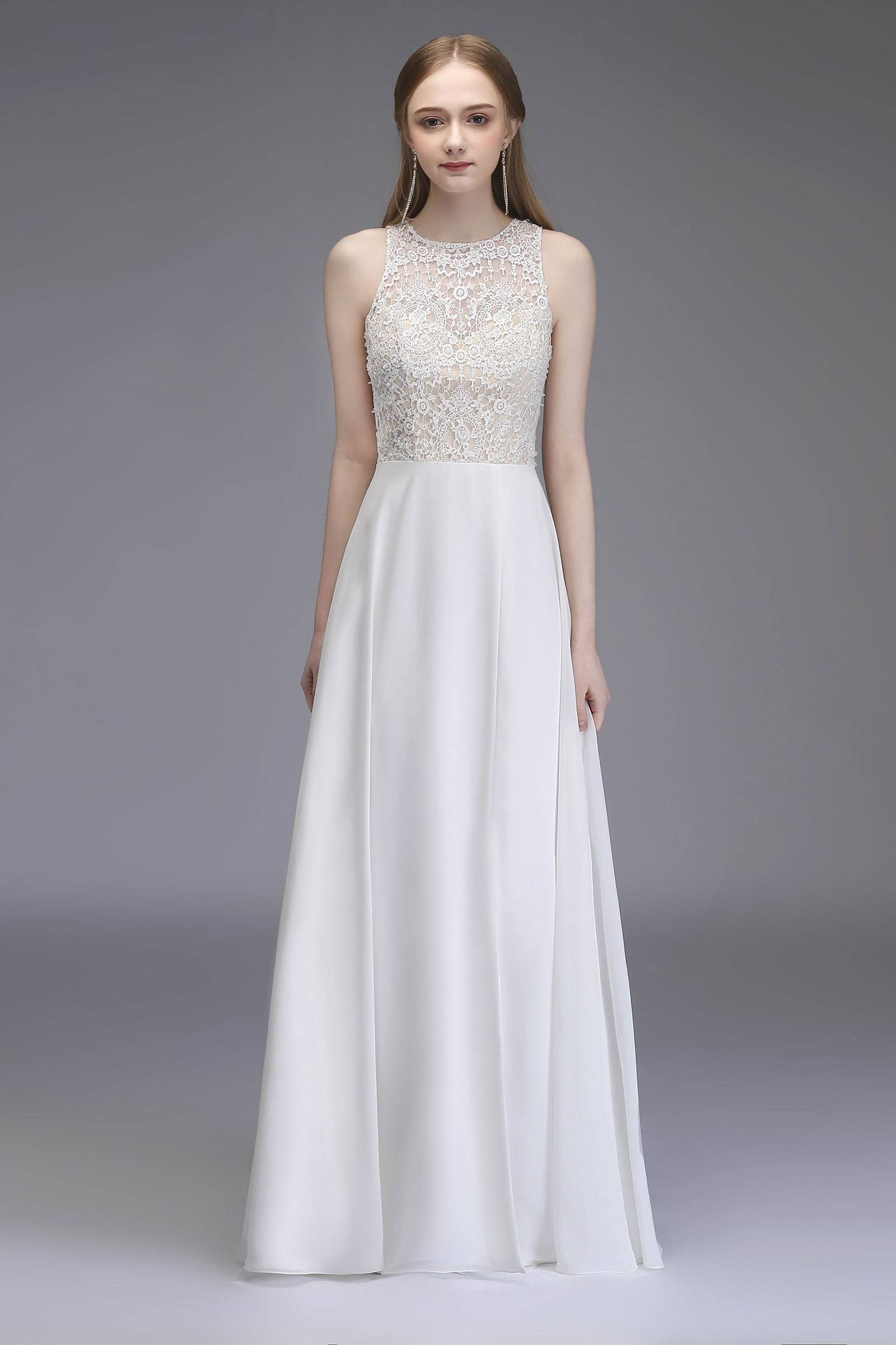 White Shiffon Wedding Dress