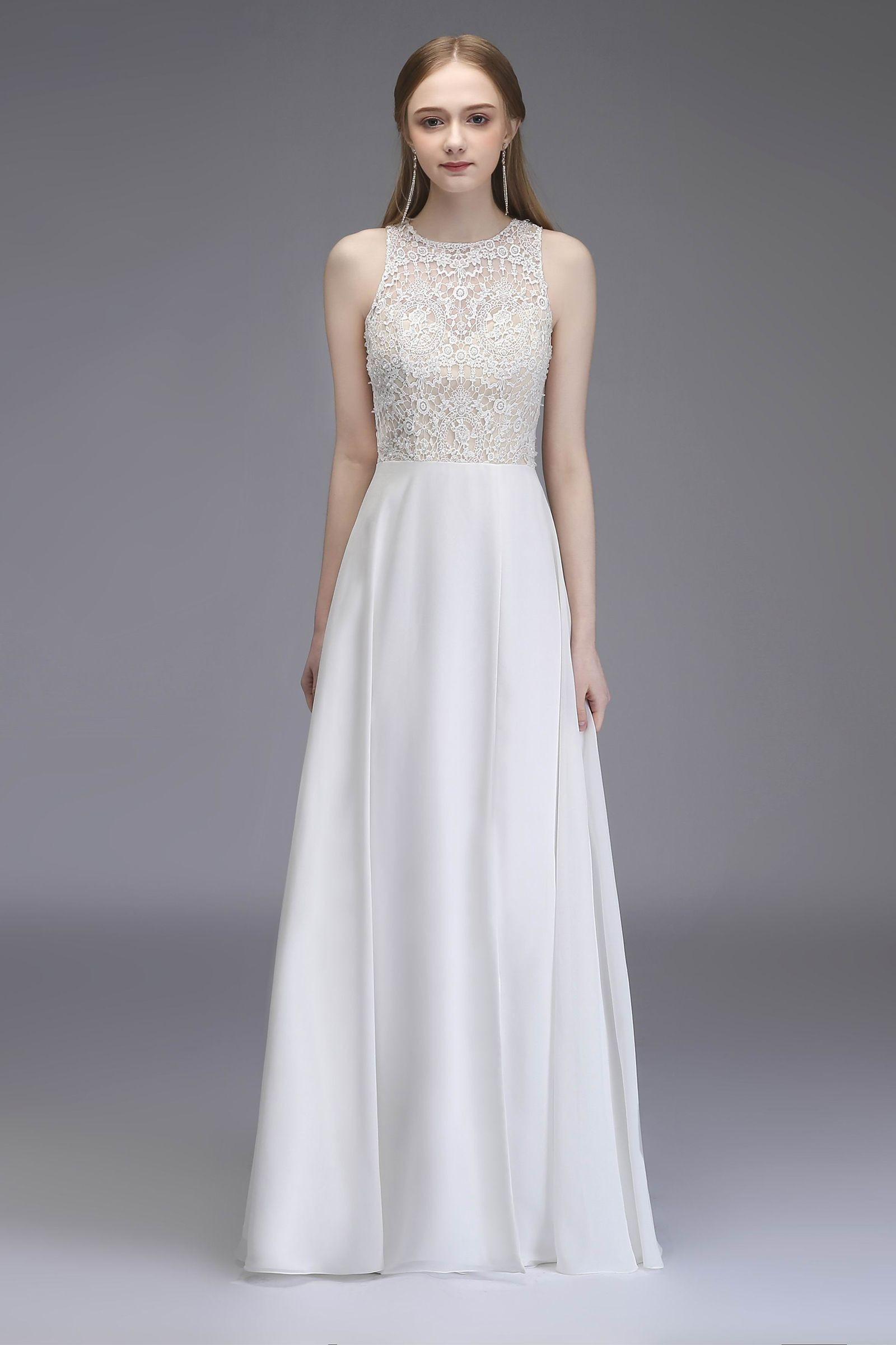 White Shiffon Wedding Dress