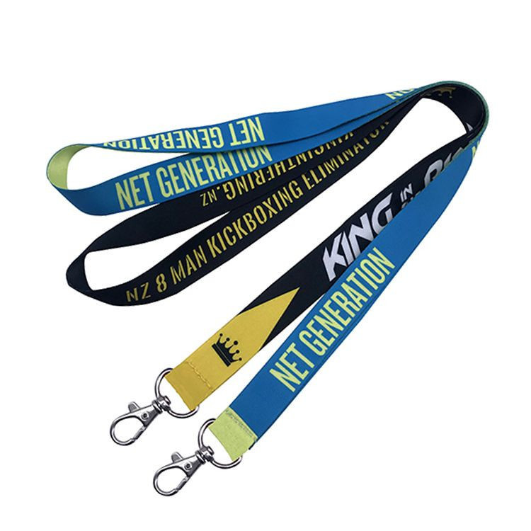 Personalized Custom Sublimation Printing Polyester Nylon Plain Neck Lanyard  With Logo No Minimum Order