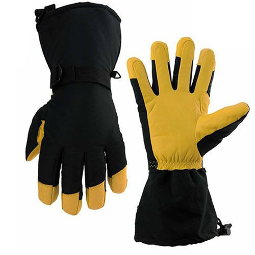 Winter Water resistance Cowhide Warm gloves (013)
