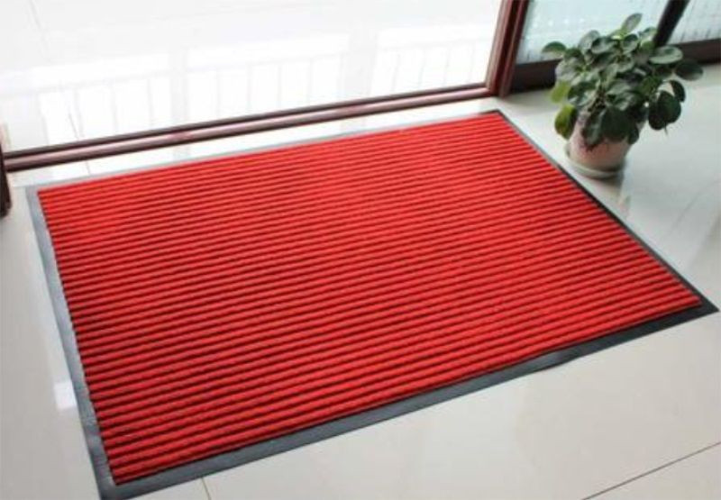 Non-Slip Stripe Entrance Door Mat with PVC Back