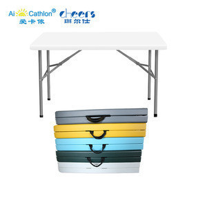 120CM Outdoor Plastic Folding Lifetime Table with Carry Handle