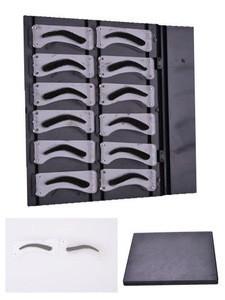 3D Effect Eyebrow Shape design eyebrow shaping stencil