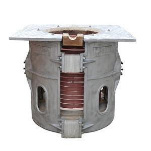500kg aluminum scrap melting electric induction crucible furnace for less slag