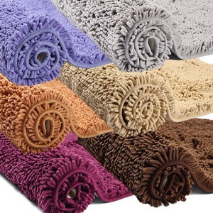 50x80cm size long microfiber chenille bathroom mat bath rug sets