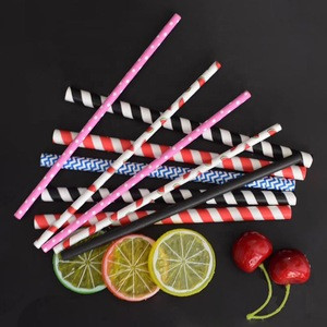 Amazon top seller approved paper straw biodegradable striped paper straw for drink, bar accessories, wedding, party