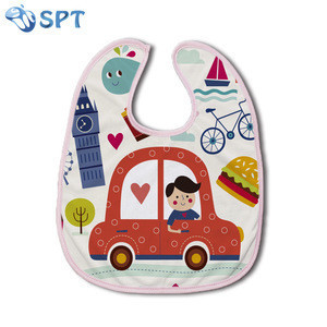 Blank sublimation polyester white baby bib