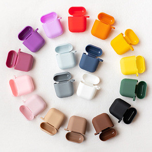 Candy Colors Soft Silicone Case For Apple Air Pods For AirPods 2 Silm Shockproof Earphone Protective Cover Accessory