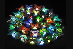 Cheap colorful luminous butterfly night light simulation butterfly luminous toy