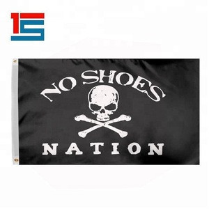 Cheap small  2x3  3x5  jolly roger boat flag with pole