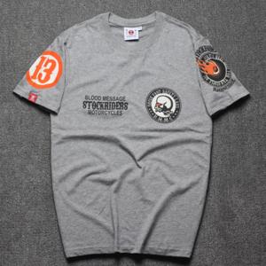 Custom print t-shirt with printing sleeves woven patch custom t-shirts no minimum