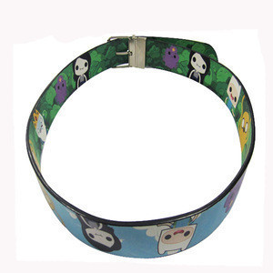 Custom printed high quality pu strong leather belt