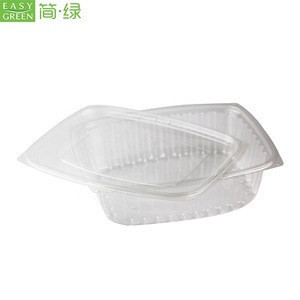 Easy Green Plastic Dry Fresh Cut Fruit Packing Salad Lunch Box For Vegetables And Fruits