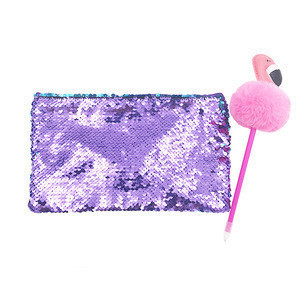 Fashion Cute Pencil Pouch Glitter Pencil Case Sequin Pencil bag