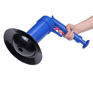 High Pressure Strong Water Impact Pressure Pump Cleaner Unclogs Toilet Hand Powered Plunger Set Pipe Sewer Dredger