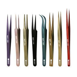 New design stainless steel Mink eyelash extension tweezers professional Volume Eye Lashes Tweezers make up tool eyebrow tweezer