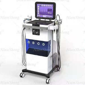 New Product 2020 15 inch screen 12 in 1 aqua facial cleaning hydra beauty machine multi-function beauty equipment with CE