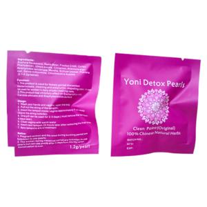 OEM Private label Herbal Vaginal Clean Point Tampon Original Womb Vagina Pearl Yoni Detox Pearls