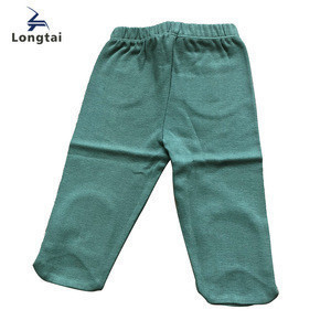 Plain New Born Boys Long Tourses With Footie For Spring&Summer Pants