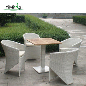 Popular outdoor sling furniture restaurant/cafe/bistro coffee table and chair
