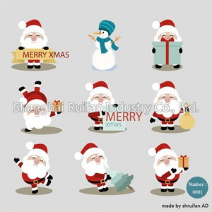 Removable self-adhesive Christmas decoration car sticker window sticker