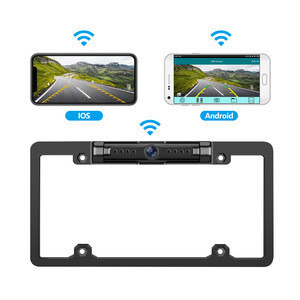 Rotatable Wifi APP Car License Frame Camera Night Vision Full Frame License Plate Camera WiFi Rear View Camera