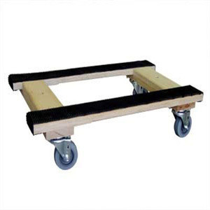 "Rubber capped ends dollies w/ 4 wheels, size 18""X30"""