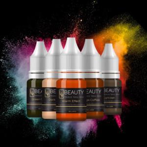 Semi PMU Eye Pigment Organic Tattoo Ink Set 16 colors Microblading Micro Pigment Cream Manual Using