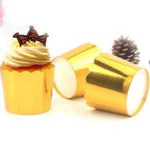 Shining Golden muffin cupcake liner cake baking cups dessert baking tools