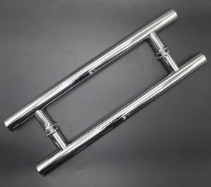 Stainless steel furniture hardware sliding door pull H type handles interior shower bathroom glass door handle