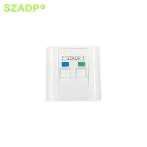 SZADP RJ45 Surface Wall Faceplate with Dual Ports/fiber optic faceplate