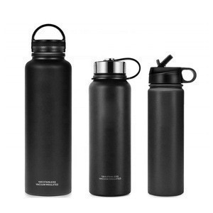 Wholesale  water bottles  stainless steel vacuum flask copper growler Insulated Cola Shaped drinking flasks
