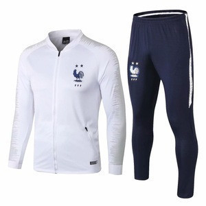 World cup France team soccer football white jacket uniform and tracksuit