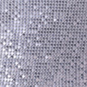 XULIN 3MM Metal Mesh Chain Mail Sequin Shimmer Cloth Metallic Curtain Decorative Mesh Fabric Glitter