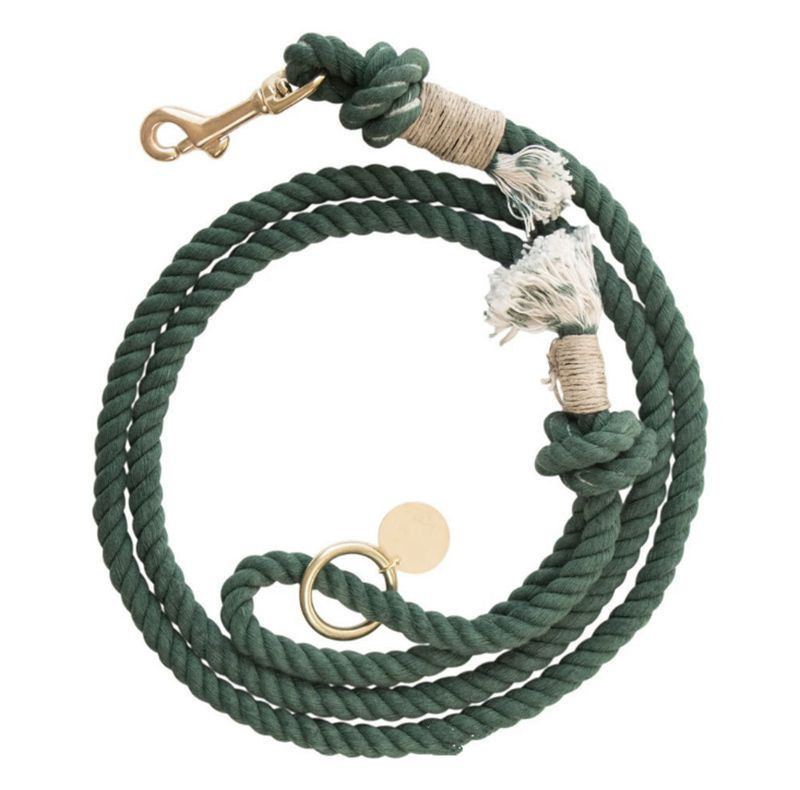 Cotton rope traction rope pet rope | handmade 100% OEM Handmade Braided Pet Leash Cotton Rope Dog Leash