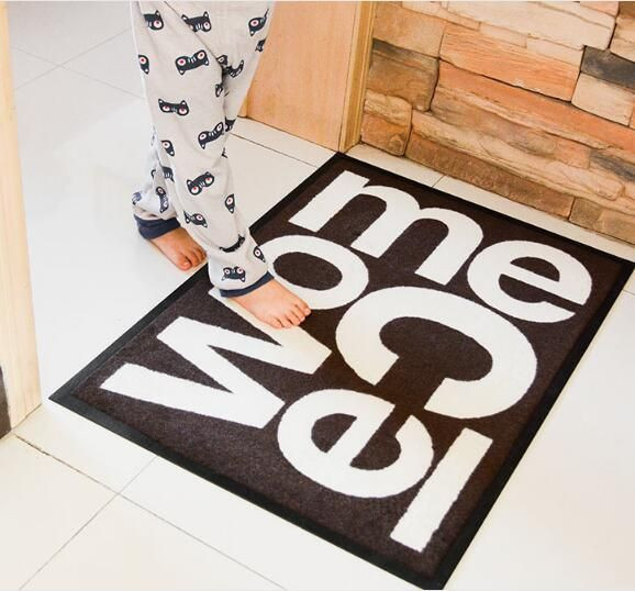 non-slip indoor floor mat with nylon printed rubber backing