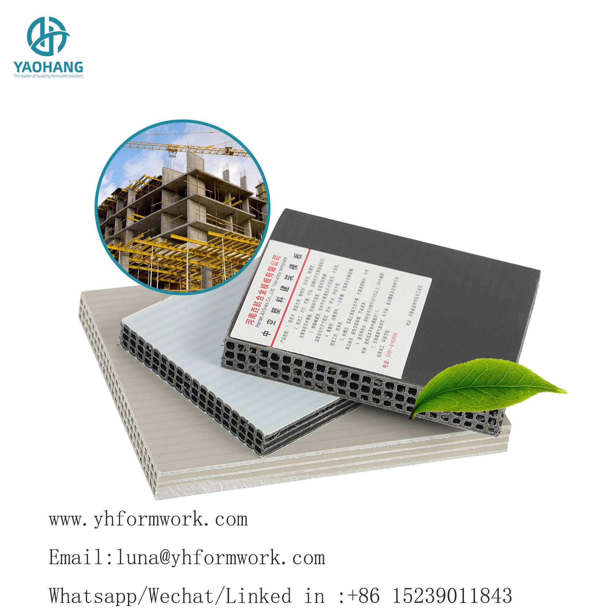 Recycled high quality concrete formwork panels