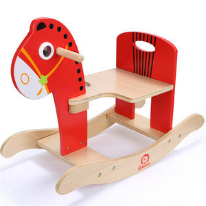 2018 Hot sale custom interesting toy kids cheap wooden rocking horse toy