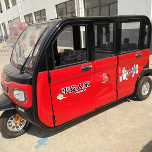 5 seat close body electric tricycle for passengers