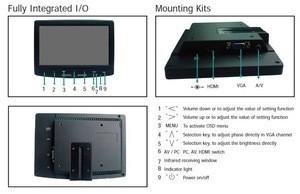 7 inch Car LCD Monitor with VGA HD AV inputs