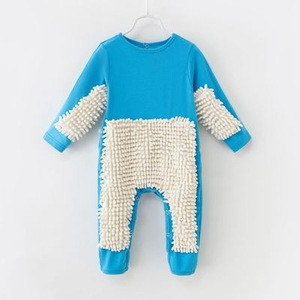 Baby Funny Romper Creative Mop Design Jumpsuit One-Piece Playsuit Cleaning Cloth Suit Infant Crawling Clothing for Baby Boy Girl