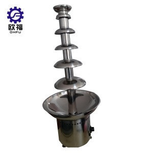 Commercial 6 Tier Layers Waterfall Machine Chocolate Fountain