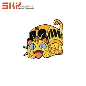 Custom Lovely Kunshan Cartoon Cat Enamel Lapel Pin for souvenir