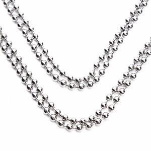 DGXS Metal Bead Chain Stainless Steel Ball Chain Never Rust