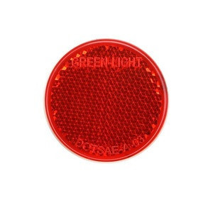 Dia 40mm round safety reflector reflex reflectors with screw holes for cars trailer or truck