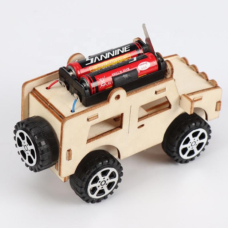 DIY Assemble Take Apart Vehicle Toy Set Kids Toddlers Wood Building Blocks Car Toy Electric Assembling Car SUV Educational Toys