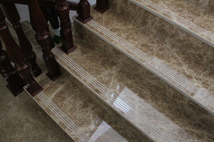 Fantasy design marble stair tread