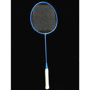 High quality carbon fiber badminton racket customize aluminum one joint badminton game set