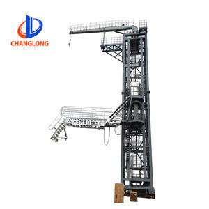 Hydraulic Marine Tower type Gangway with JIB Crane