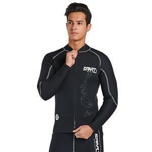 Mens 3MM neoprene warmer Long Sleeve Long Leg Wetsuit Front zip Jacket Top Wetsuit Pants
